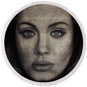 Art In The News 72-adele 25 Round Beach Towel by Michael Cross