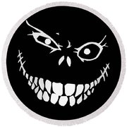 Crazy Monster Grin Round Beach Towel by Nicklas Gustafsson