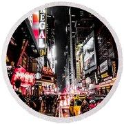 New York City Night II Round Beach Towel by Nicklas Gustafsson
