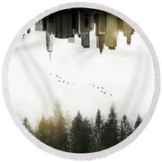 Duality Round Beach Towel by Nicklas Gustafsson