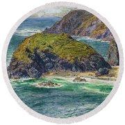 Asparagus Island Round Beach Towel by William Holman Hunt