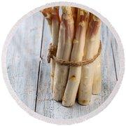 Asparagus Round Beach Towel by Nailia Schwarz
