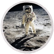 Astronaut Round Beach Towel by Photo Researchers