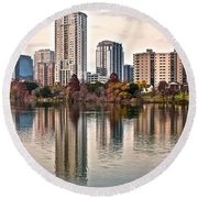 Austin Elongated Round Beach Towel by Frozen in Time Fine Art Photography