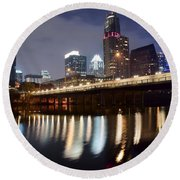 Austin From Below Round Beach Towel by Frozen in Time Fine Art Photography