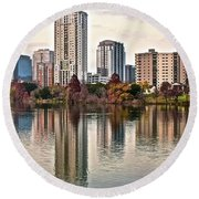 Austin Wide Shot Round Beach Towel by Frozen in Time Fine Art Photography