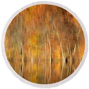 Autumns Final Palette Round Beach Towel by Everet Regal