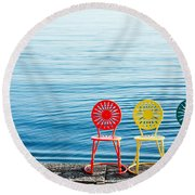 Available Seats Round Beach Towel by Todd Klassy