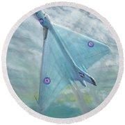 Avro Vulcan B1 Night Flight Round Beach Towel by Vincent Alexander Booth