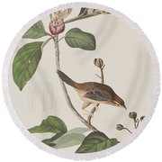 Bachmans Sparrow Round Beach Towel by John James Audubon