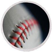 Baseball Fan Round Beach Towel by Rachelle Johnston