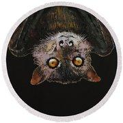 Bat Round Beach Towel by Michael Creese