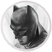 Batman Round Beach Towel by Artistyf
