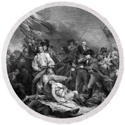 Battle Of Bunker Hill Round Beach Towel by War Is Hell Store