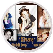 Beautiful Images Of Hot Photo Model Round Beach Towel by Silvana Vienne