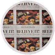 Believe It Round Beach Towel by Frozen in Time Fine Art Photography