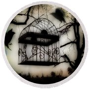 Birdcage Round Beach Towel by Gothicolors Donna