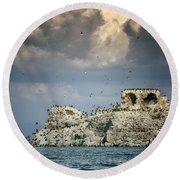 Birds Island Round Beach Towel by Joana Kruse