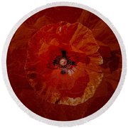 Bloody Mary Round Beach Towel by Mona Stut