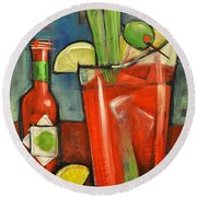 Bloody Mary Round Beach Towel by Tim Nyberg