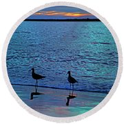 Blue Without You Round Beach Towel by Betsy Knapp