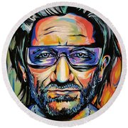 Bono Round Beach Towel by Amy Belonio