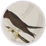 Booby Gannet   Round Beach Towel by John James Audubon