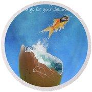 Break Free Round Beach Towel by Juli Scalzi
