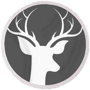Buck Deer Round Beach Towel by Chastity Hoff