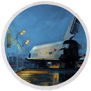 Buran Round Beach Towel by Simon Kregar