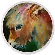 Burro Donkey Round Beach Towel by Diane Whitehead