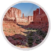 Round Beach Towel featuring the photograph Arches National Park, Moab, Utah by A Gurmankin