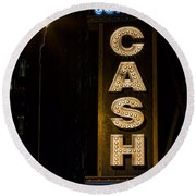 Cash Round Beach Towel by Stephen Stookey