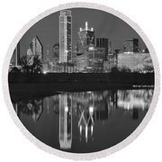 Charcoal Night In The Lone Star State Round Beach Towel by Frozen in Time Fine Art Photography