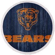 Chicago Bears Barn Door Round Beach Towel by Dan Sproul