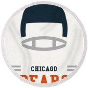 Chicago Bears Vintage Art Round Beach Towel by Joe Hamilton