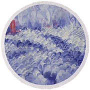 Chicago II Round Beach Towel by Bayo Iribhogbe