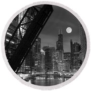 Chicago Pride Of Illinois Round Beach Towel by Frozen in Time Fine Art Photography