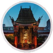 Chinese Theatre Round Beach Towel by Art K
