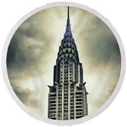 Chrysler Building Round Beach Towel by Jessica Jenney