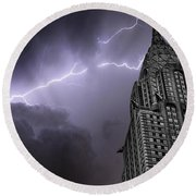 Chrysler Building Round Beach Towel by Martin Newman