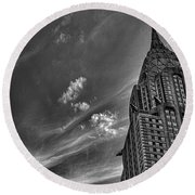 Chrysler Building Nyc Round Beach Towel by Martin Newman