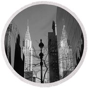 Chrysler Contrast Round Beach Towel by Jessica Jenney