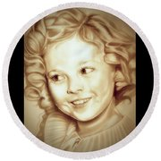 Classic Shirley Temple Round Beach Towel by Fred Larucci