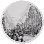 Crystal Palace Round Beach Towel by Pat Nicolle