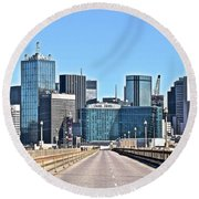 Dallas Straight Ahead In 2016 Round Beach Towel by Frozen in Time Fine Art Photography