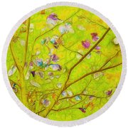 Dancing In The Wind 01 - 343 Round Beach Towel by Variance Collections