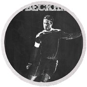 David Beckham Round Beach Towel by Semih Yurdabak