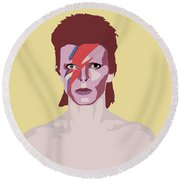 David Bowie Round Beach Towel by Nicole Wilson