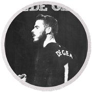 David De Gea Round Beach Towel by Semih Yurdabak